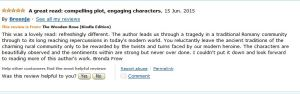 LATEST AMAZON REVIEW OF THE WOODEN ROSE BY SORAYA